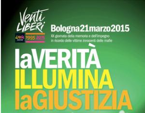 il 20 e 21 marzo, a Bologna, la XX Giornata della Memoria e dell'Impegno