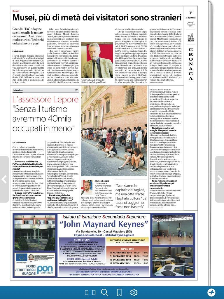 UN TURISMO DI QUALITA\' CHE GARANTISCE 40.000 OCCUPATI | MATTEO LEPORE